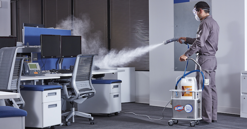 electrostatic disinfection office disinfection in Pompano Beach, FL
